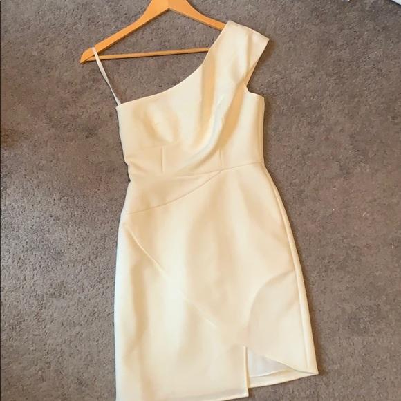 """d0fe5078043 BCBG Maxazria """"Aryanna"""" off white mini dress"""